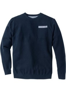 Пуловер Regular Fit (темно-синий) Bonprix