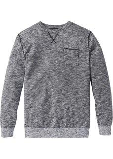Пуловер Regular Fit (черный/белый меланж) Bonprix