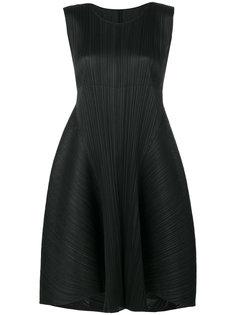 платье с оборкой  Pleats Please By Issey Miyake