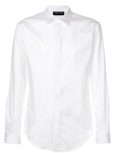 рубашка с плиссировкой  Emporio Armani