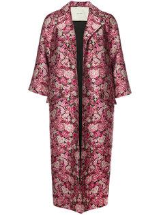 жаккардовое пальто с цветочным принтом Adam Lippes