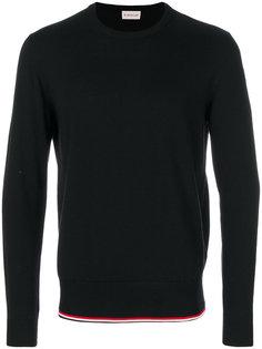 свитер с полосатой окантовкой Moncler
