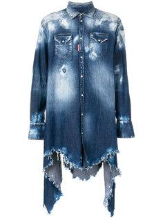 джинсовая рубашка с потертой отделкой Dsquared2