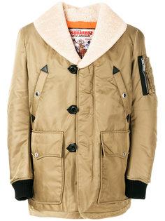 стеганая куртка из овчины Dsquared2
