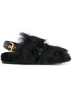 сандалии с отделкой из овчины Car Shoe