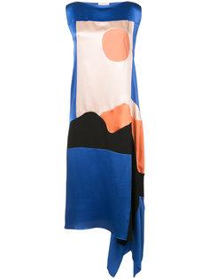 миди платье в стиле колор блок Roksanda