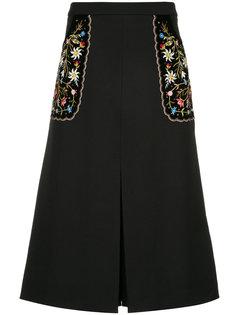embroidered floral dress Vilshenko