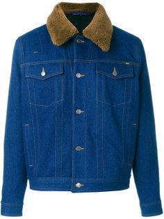 джинсовая куртка с меховым воротником Ami Alexandre Mattiussi