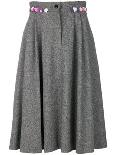 юбка с цветочной аппликацией  Olympia Le-Tan
