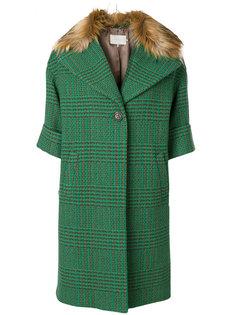 клетчатое пальто на пуговицах LAutre Chose
