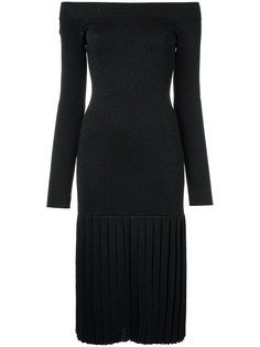 Malena Knit Pleat dress Rebecca Vallance