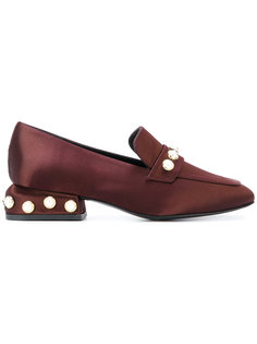 pearl trim loafers Castañer