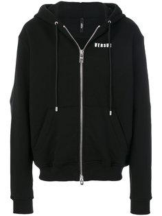 rear logo print hoodie  Versus