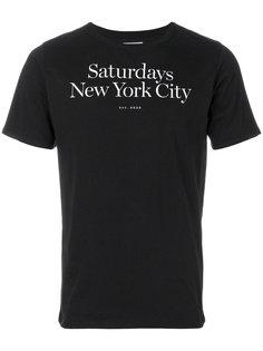футболка с логотипом Saturdays Nyc