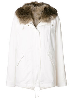 racoon fur trim hooded parka Army Yves Salomon