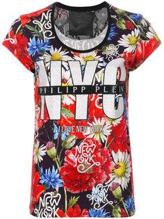 футболка с цветочным принтом NYC Floral Philipp Plein