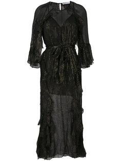 metallic detail sheer dress Alice Mccall