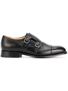 туфли-монки с двумя ремешками Churchs