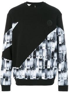 safety pin print sweatshirt  Versus