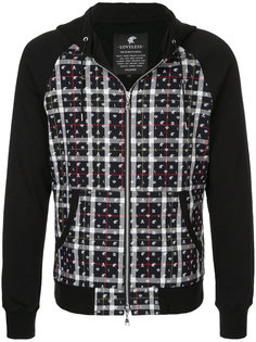 checked panel hoodie  Loveless