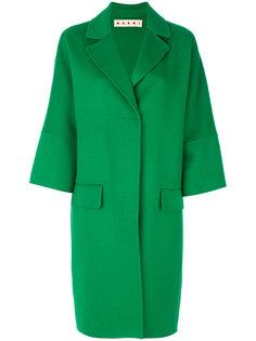 однобортное пальто-кокон  Marni