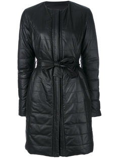 padded leather coat Drome