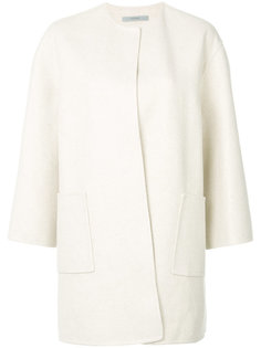 collarless cardigan coat Dusan