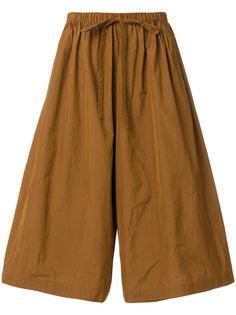 укороченные широкие брюки со шнурком  Red Valentino