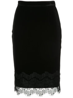lace embroidered pencil skirt Loveless