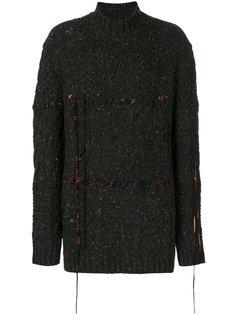 фактурный свитер свободного кроя  Damir Doma