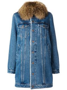 denim parka jacket Forte Couture