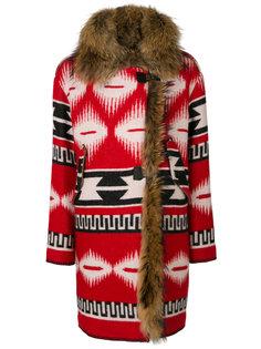 пальто с этническим узором Bazar Deluxe