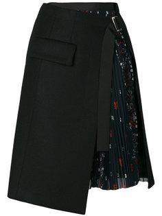 асимметричная юбка  Sacai