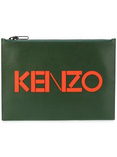 клатч с аппликацией логотипом Kenzo