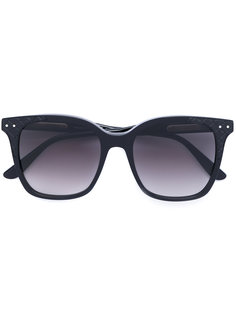солнцезащитные очки в объемной оправе Bottega Veneta Eyewear