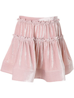 присборенная многослойная мини-юбка Alberta Ferretti