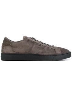 кроссовки на шнуровке Santoni