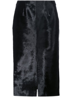 юбка-карандаш с мехом ягненка Jeffrey Dodd