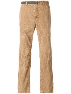 брюки с мятым эффектом Sacai