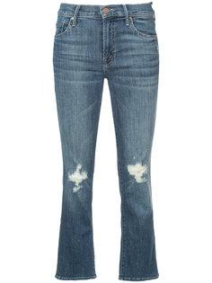 укороченные джинсы с потертыми деталями Mother