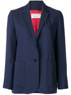 однотонный пиджак с карманами  Maison Kitsuné