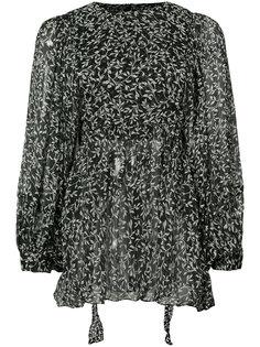 leaf print sheer blouse  Zimmermann