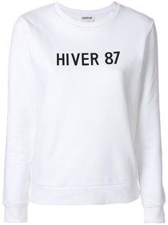 пуловер с круглым вырезом и принтом  A.P.C.