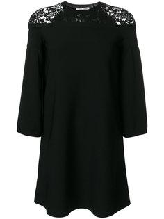 платье с рукавами-колокол Valentino