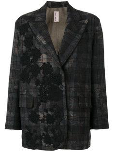 пиджак в клетку с аппликацией Antonio Marras