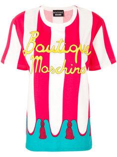 футболка с круглым вырезом и принтом  Boutique Moschino