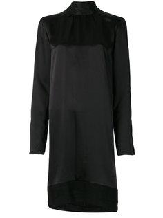 платье-шифт с высоким горлышком с заворотом Ann Demeulemeester