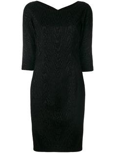 классическое приталенное платье  Alberto Biani