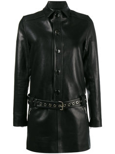 belted leather mini dress Beau Souci