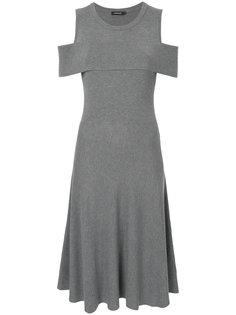 трикотажное платье с вырезными деталями на плечах Loveless